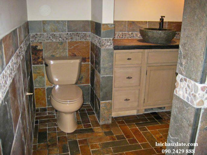 Đá Slate ốp nhà tắm - WC