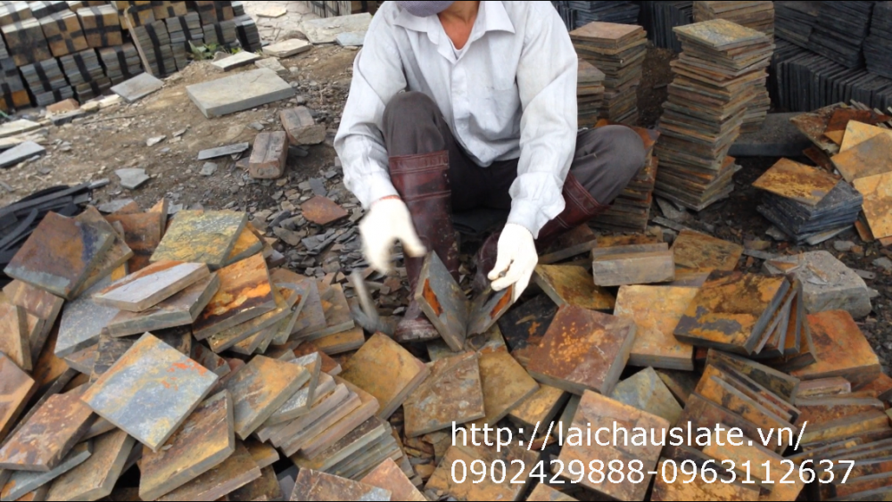 Hình ảnh thực tế : khai thác đá Lai Châu