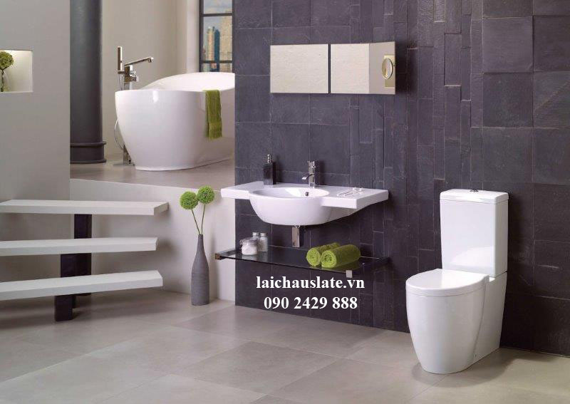 Ốp lát nhà tắm - WC với đá Slate Lai Châu