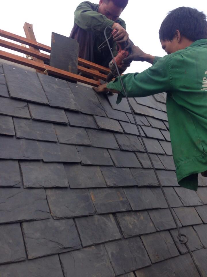 Công trình lợp mái đá Lai Châu quý 1-2/2018