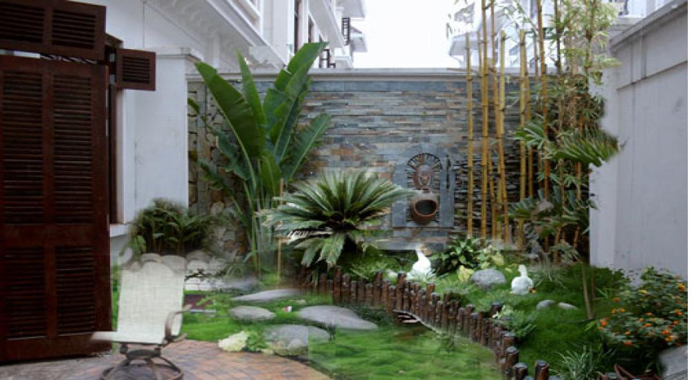 Thiết kế tiểu cảnh sân vườn đẹp với Đá Lai Châu đưa không gian thiên nhiên vào ngôi nhà bạn.